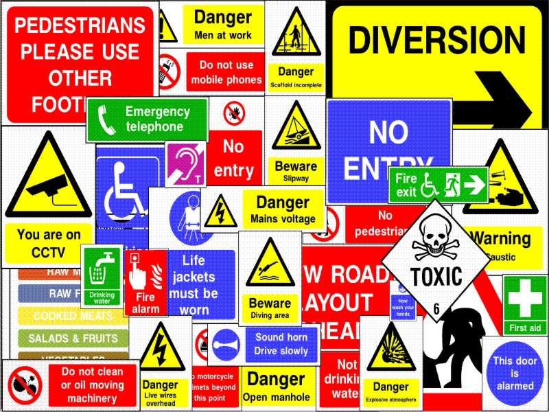 SAFETY SIGNS (202)